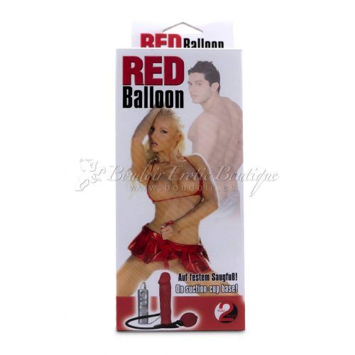 red inflatable vibrator