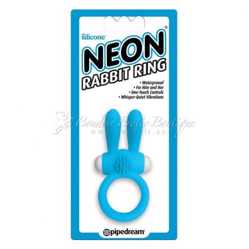Neon Rabbit Ring Blue